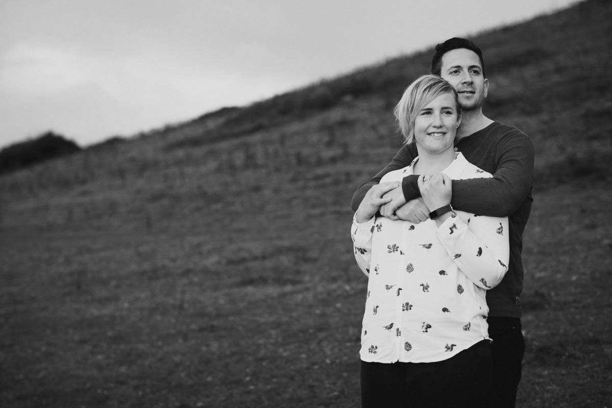 a newly engagement couple in cornwall. Cornwall engagement photographer