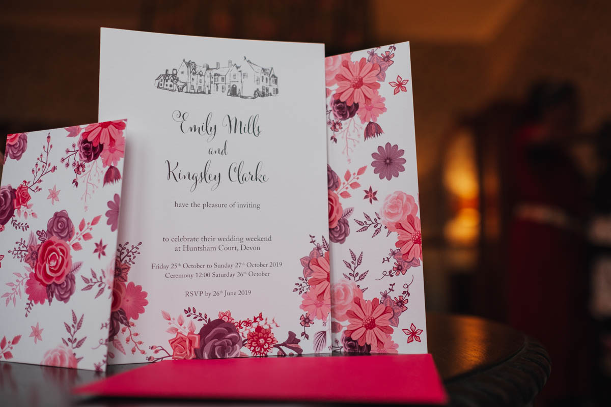 huntsham court wedding invitations