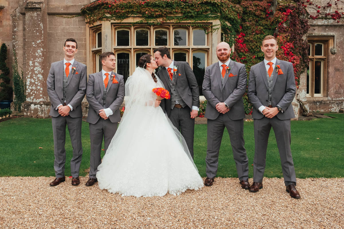bridal party at st audries park