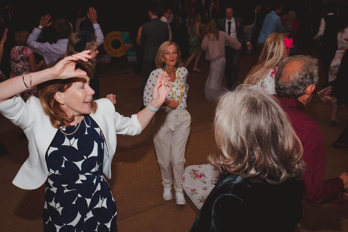 a barn dance at the Wiltshire farm wedding