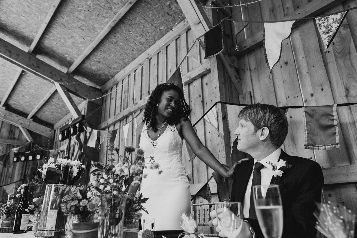 bride does a speech at her wedding