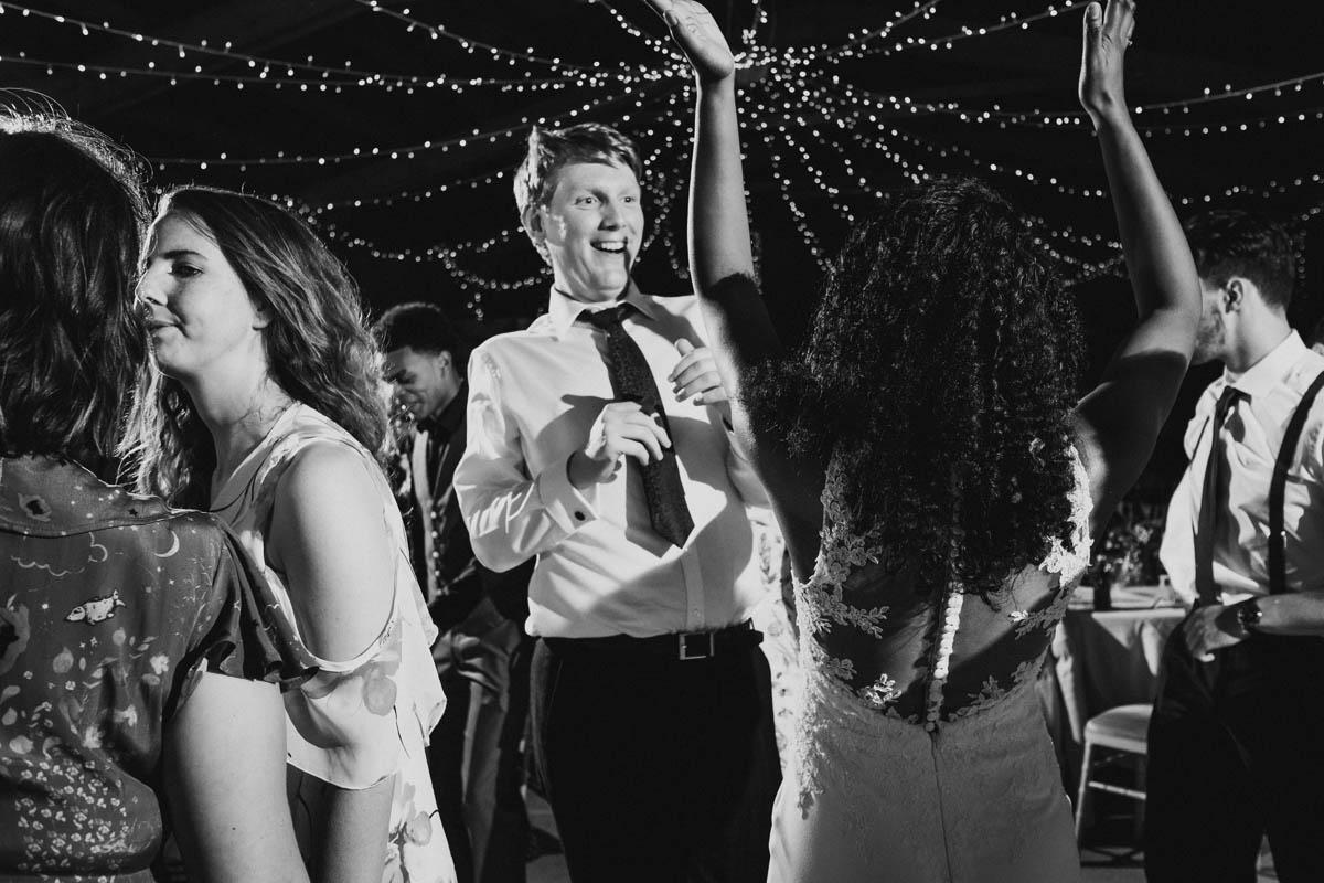 dancing at dartmoor wedding