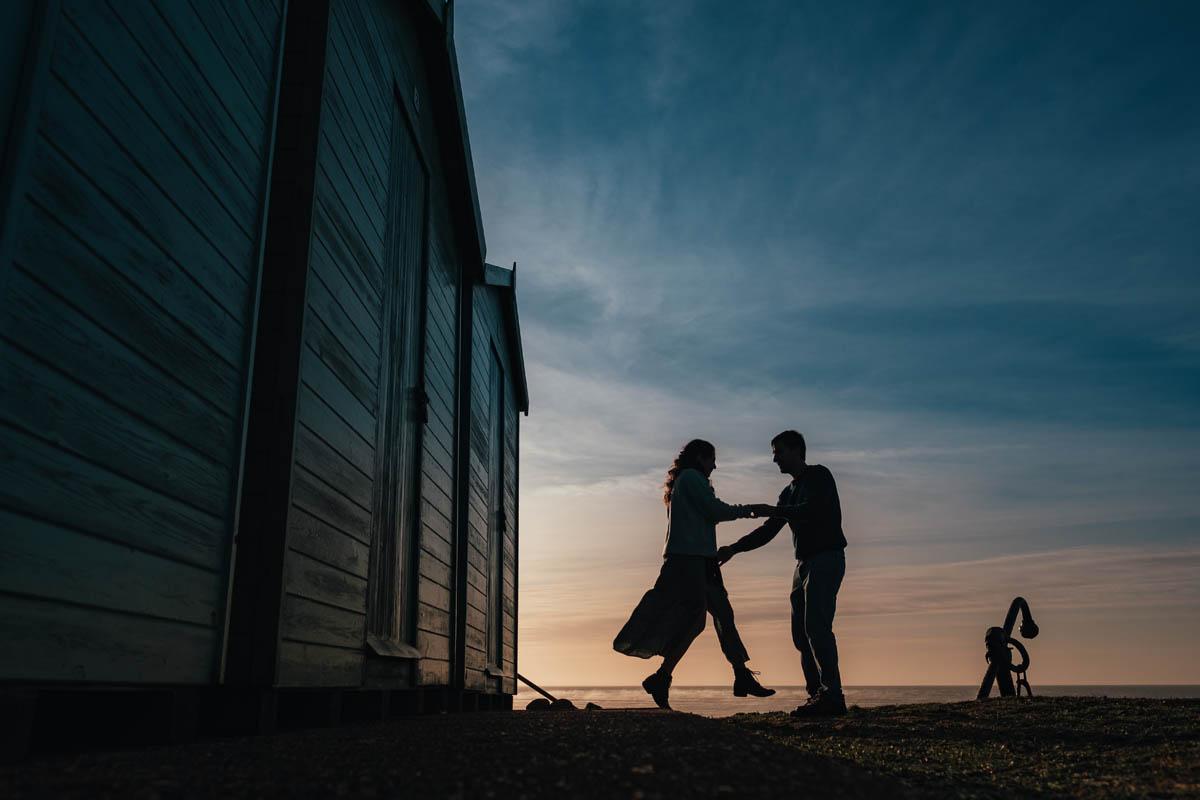 couple dance at dawn