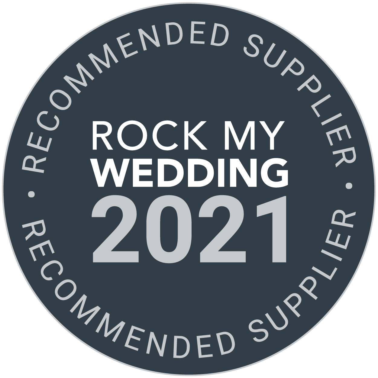 rock my wedding recommended supplier badge